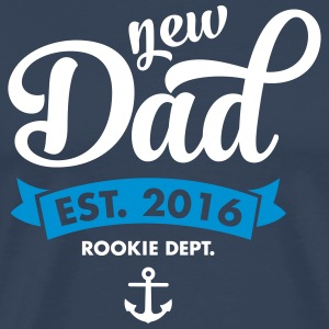 New Dad Est. 2016 - Rookie Dept. (Anchor) T-skjorter - Premium T-skjorte for menn