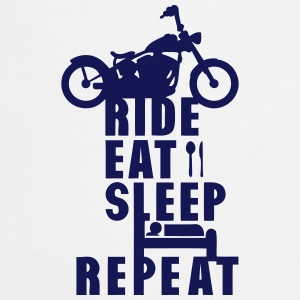 motard ride eat sleep repeat Tabliers - Tablier de cuisine
