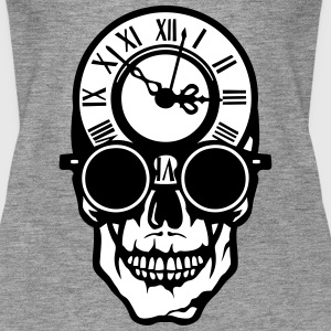Skull death head clock halloween 2203 Tops - Women's Premium Tank Top
