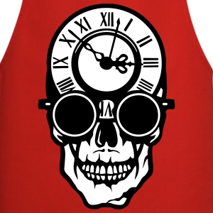 Skull death head clock halloween 2203  Aprons - Cooking Apron