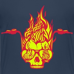 skull handlebar tô flame fire Shirts - Teenage Premium T-Shirt