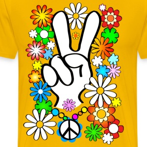 Flower Power Peace (.nl) - Mannen Premium T-shirt