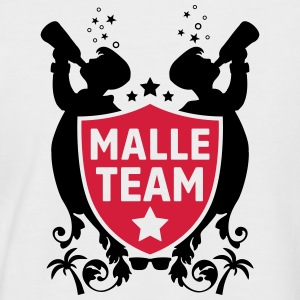 malle party team T-Shirts - Männer Baseball-T-Shirt