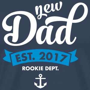 New Dad Est. 2017 - Rookie Dept. (Anchor) T-Shirts - Men's Premium T-Shirt