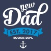 New Dad Est. 2017 - Rookie Dept. (Anchor) T-shirts - Herre T-shirt med V-udskæring