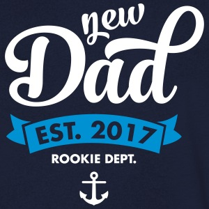 New Dad Est. 2017 - Rookie Dept. (Anchor) T-shirts - Mannen T-shirt met V-hals