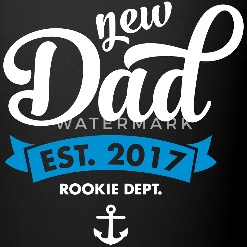 New Dad Est. 2017 - Rookie Dept. (Anchor) Mugs & Drinkware - Full Colour Mug