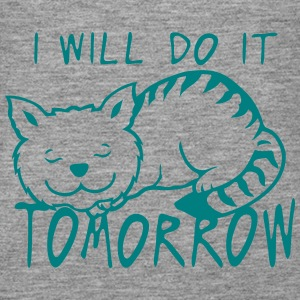 i will do it tomorrow cat quote Tops - Women's Premium Tank Top