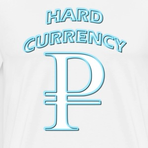 Hard Currency Rubel white blue neon T-Shirts - Männer Premium T-Shirt
