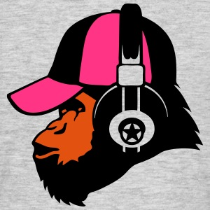 Monkey headphones Music cap T-Shirts - Men's T-Shirt