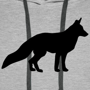 Fox, renard Sweat-shirts - Sweat-shirt à capuche Premium pour hommes