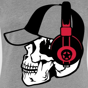 skull music headphones cap T-Shirts - Women's Premium T-Shirt