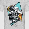 Grå meleret Pizza Sloth T-shirts - Herre-T-shirt
