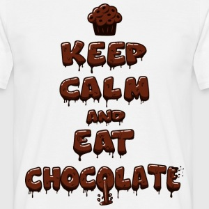 Eat chocolate - T-shirt Homme
