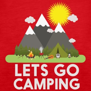 Lets go Camping Toppe - Dame Premium tanktop