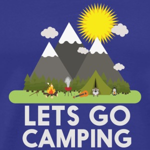 Lets go Camping T-shirts - Herre premium T-shirt