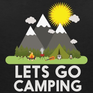 Lets go Camping T-shirts - Vrouwen T-shirt met V-hals