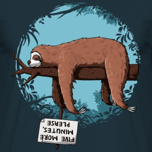 Navy Sloth T-shirts - Mannen T-shirt