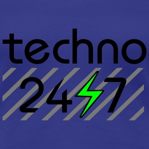 techno 24/7 love electro edm beats nightlife rave T-Shirts - Frauen Premium T-Shirt
