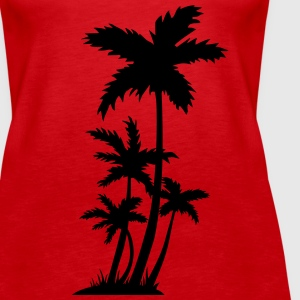 palm trees Topper - Premium singlet for kvinner