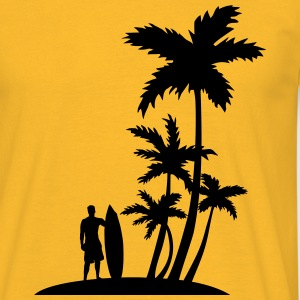 Palm trees and surfer T-Shirts - Men's T-Shirt