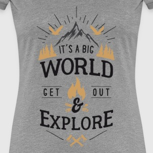get out & explore T-Shirts - Frauen Premium T-Shirt