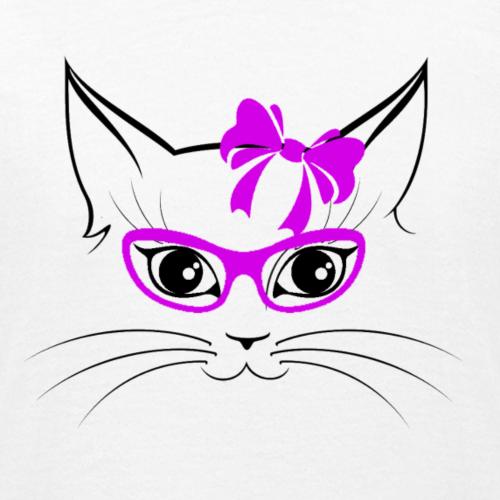 Kat met bril en strik