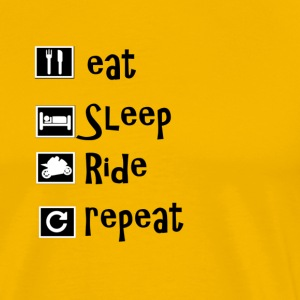 eat sleep ride repeat - Mannen Premium T-shirt