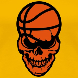 Basketball skull balloon profile 2 T-Shirts - Women's Premium T-Shirt