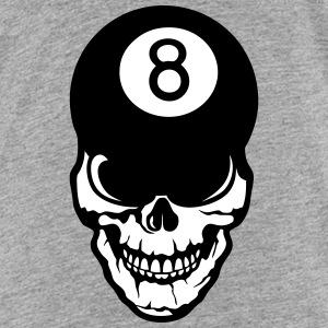 skull Billard ball 8 head of death crane Shirts - Kids' Premium T-Shirt