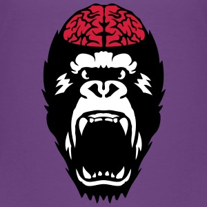 gorilla brain open mouth Shirts - Kids' Premium T-Shirt