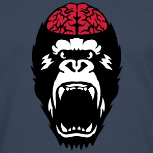 gorilla brain open mouth Long sleeve shirts - Men's Premium Longsleeve Shirt