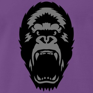 gorilla open mouth 1603 T-Shirts - Men's Premium T-Shirt