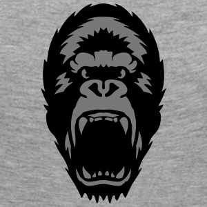 gorilla open mouth 1603 Long Sleeve Shirts - Women's Premium Longsleeve Shirt