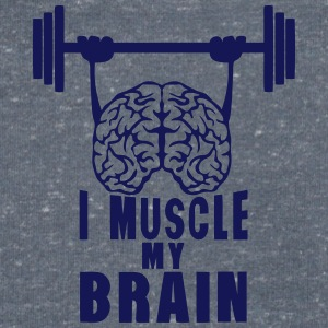 i muscle my brain citation Tee shirts - T-shirt Homme col V