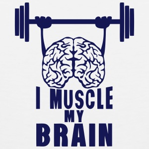 i muscle my brain quote Sports wear - Men's Premium Tank Top