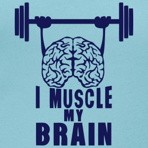 i muscle my brain quote T-Shirts - Women's Scoop Neck T-Shirt