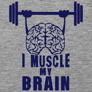 i muscle my brain quote Tops - Women's Premium Tank Top