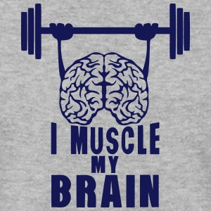 i muscle my brain citation Sweat-shirts - Sweat-shirt Homme