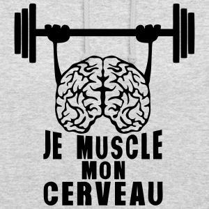 muscle cerveau cervelle citation haltere Sweat-shirts - Sweat-shirt à capuche unisexe