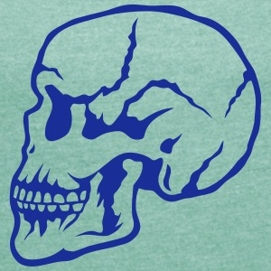 skull profile 1503 T-Shirts - Women's T-shirt with rolled up sleeves