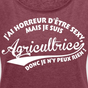 Sexy Agricultrice Tee shirts - T-shirt Femme à manches retroussées