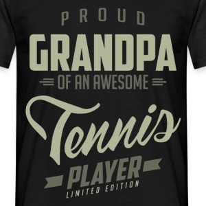 Proud Grandpa Tennis Player. - Men's T-Shirt
