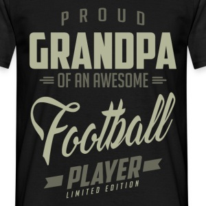 Proud Grandpa Football Player. - Men's T-Shirt