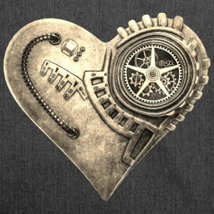 Steampunk Clockwork Heart #1B Shoulder bag - Borsa in materiale riciclato