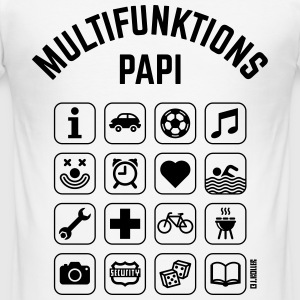 Multifunktions Papi (16 Icons) T-Shirts - Männer Slim Fit T-Shirt