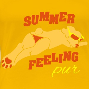 Wuff Summer Feeling pur T-Shirts - Frauen Premium T-Shirt