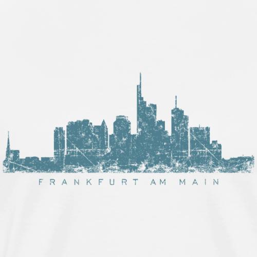 Frankfurt Skyline Vintage Blau