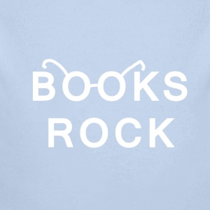 Books Rock White  Baby Bodysuits - Longlseeve Baby Bodysuit