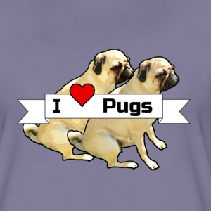 I love Pugs T-Shirts - Frauen Premium T-Shirt